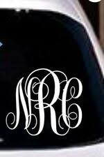 Monogram Car Decal For Sale In Stock Ebay