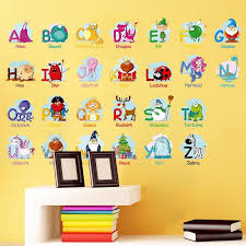 Alphabet Letters With Picture Samples Wall Sticker Gallery Wallrus Free Worldwide Shipping