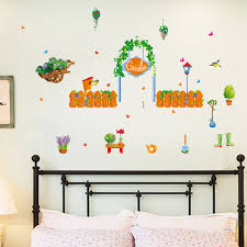green plant garden wall stickers home
