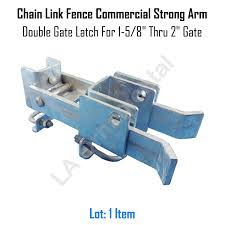 Chain Link Fence Commercial Strong Arm Double Gate Latch For 1 5 8 Thru 2 Gate For Sale Online