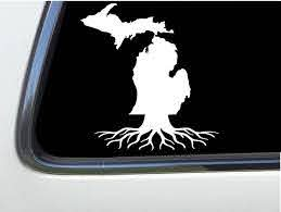 Amazon Com Thatlilcabin Michigan Mi Roots Michigan 6 Decal As1013 Automotive