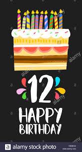 Feliz Cumpleanos Numero 12 La Operacion De Tarjetas De