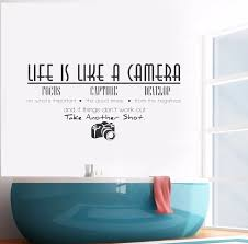 Hot Sale Life Is Like A Camera Quote Wall Decal Vinyl Art Wall Stickers For Home Decoration Wall Sticker Wall Mural Y 309 Stickers For Home Art Wall Stickerwall Sticker Aliexpress