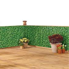 Collections Etc Faux Ivy Privacy Weather Resistant Fence Cover Metal Eyelets And Rope Included For Easy Installation Walmart Com Walmart Com