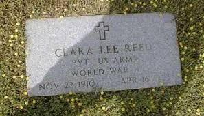 REED (VETERAN WWII), CLARA LEE - Bowie County, Texas   CLARA LEE REED  (VETERAN WWII) - Texas Gravestone