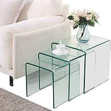 unique360 neos glass coffee table set