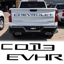 Xotic Tech For Chevrolet Silverado 2019 Tailgate Vinyl Decal Insert Letter Sticker Matte Black Walmart Com Walmart Com