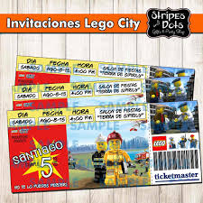 Invitacion De Lego City Invitacion De Lego Lego Party Lego