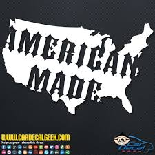 American Made United States Car Truck Window Decal Sticker