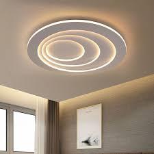 modern led flush mount circular lamp