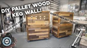 diy pallet wood beer wall you