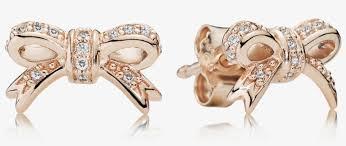 bow stud earrings pandora rose