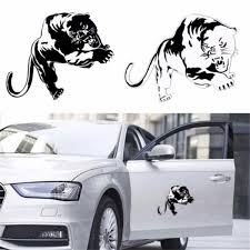 Cool Decal Stickers Fiery Wild Panther Hunting Car Body Decal Auto Window Sticker Decal Motorcycle Decorations Car Rear Window Decals Wish