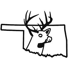 Oklahoma State Deer Buck Hunting Vinyl Decal Sticker