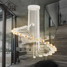 modern art white light fixture large