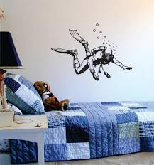 Scuba Diver Version 1 Beach Ocean Design Decal Sticker Wall Vinyl Deco Boop Decals