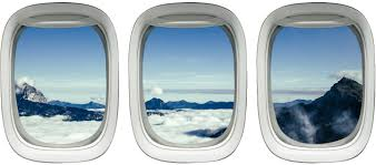 Amazon Com Airplane Window Clings Aviation Decals Stickers Aerial Wall Art Vwaq Ppw15 Home Kitchen