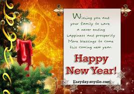 wishing you and your family to happy new year quotes collection