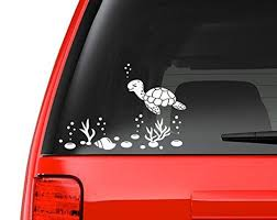 Sea Turtle And Shells Decal Sticker Vinyl Decal For Car Macbook Or Other Laptop Vinyl Sticker Vinyl Decals Window Stickers