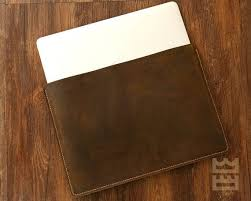 genuine leather macbook sleeve case for
