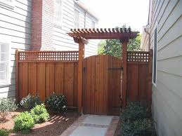 garden fence gate with t trellis over
