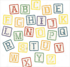 9 printable block letters psd eps