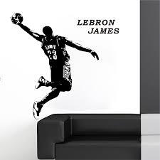 Lebron James Quote Basketball Wall Sticker Decal Mural Wallpaper Boys Room Decor Stickers Decor Decals Stickers Vinyl Art Home Garden Home Decor
