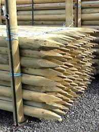 Round Fence Posts For Sale Ebay