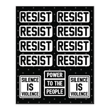 Resist Silence Is Violence Sticker And Decal Sheets Lookhuman