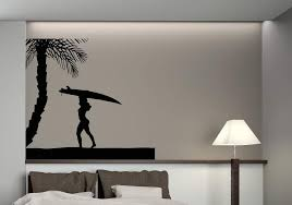 Large Vinyl Decal Sea Sun Beach Vacation Palm Tree Wall Sticker N571 Wallstickers4you