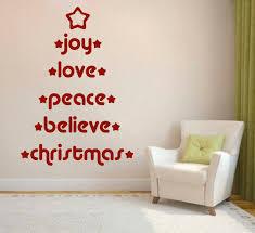 Joy Love Peace Believe Wall Decal Trendy Wall Designs