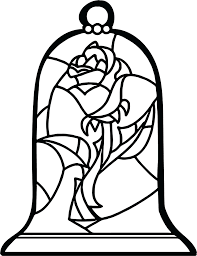 rose from beauty and the beast drawing