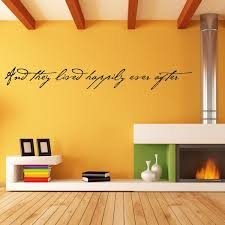 And They Lived Happily Ever After Vinyl Wall Decal Wall Quote Wall Decor