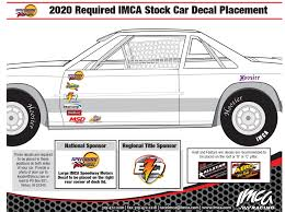 Stock Car Decal Placement Imca International Motor Contest Association