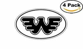 Waylon Jennings Black Oval Flying W Decal Vinyl Sticker 4 Stickers Ebay