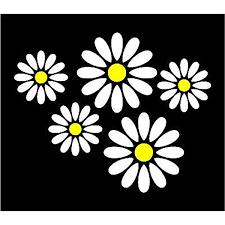 Amazon Com 5 X 2 Colour Daisy Flower Car Decals Everything Else