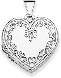 engraved heart locket pendant