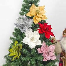artificial flowers for christmas tree