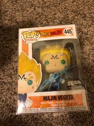 Majin Vegeta exclusive Pop! figure signed by Vegeta Voice actor ...