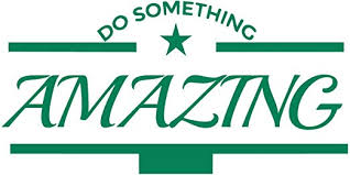 Amazon Com Do Something Amazing Wall Decal Vinyl Wall Decal Do Something Amazing Inspirational Wall Decal Quotes Green Home Kitchen