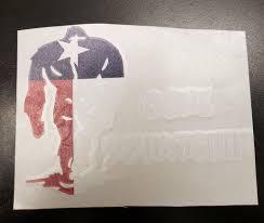 Large Texas Flag Vertical Gone Squatchin Car Sticker Squatchsurvivalgear