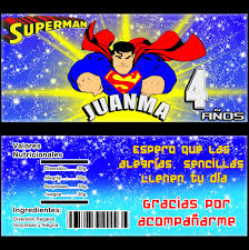 Kits Imprimibles Kit Imprimible Superman Invitaciones Cumpleanos