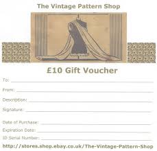 10 gift voucher the vine pattern