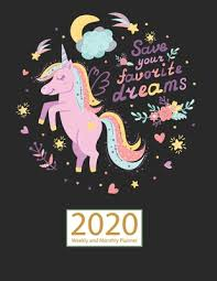 unicorn planner weekly and monthly jan to dec