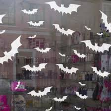 Halloween Decals Bat Clings Halloween Cling Bat Window Stickers Window Flakes