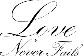 Love Never Fails Decal 12x24 Contemporary Wall Decals By Design With Vinyl