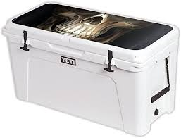 Amazon Com Mightyskins Cooler Not Included Skin Compatible With Yeti Tundra 110 Qt Cooler Lid Wrap Cover Sticker Skins Evil Reaper