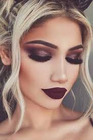 dramatic makeup look shared by