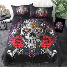 locket sugar skull bedding set
