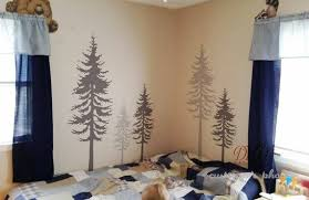 Pine Tree Wall Decal Pine Tree Decal Tree Wall Decal Large Set Of 5 Pine Trees Dk045 Description This Forest Forest Wall Decals Tree Wall Decal Tree Wall